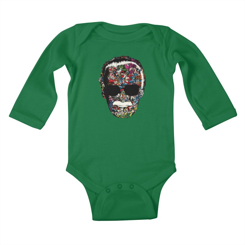 Man of many faces Kids Baby Longsleeve Bodysuit by raid71's Shop