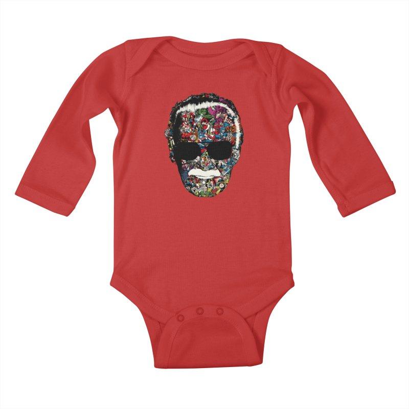 Man of many faces Kids Baby Longsleeve Bodysuit by raid71's Shop