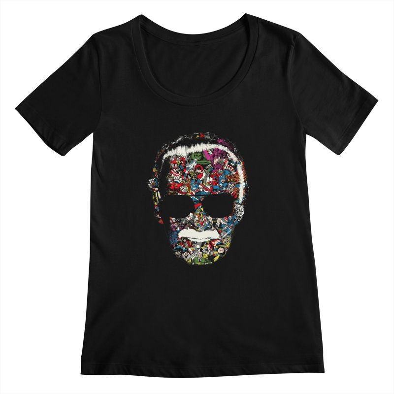 Man of many faces Women's Scoopneck by raid71's Shop