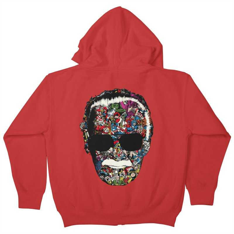 Man of many faces Kids Zip-Up Hoody by raid71's Shop