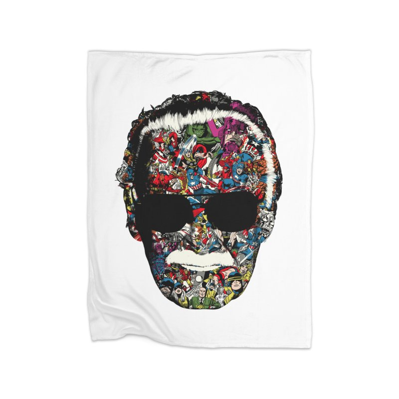 Man of many faces in Fleece Blanket Blanket by raid71's Shop