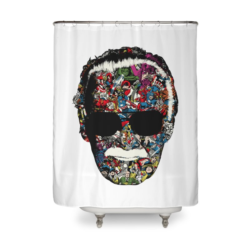 Man of many faces Home Shower Curtain by raid71's Shop