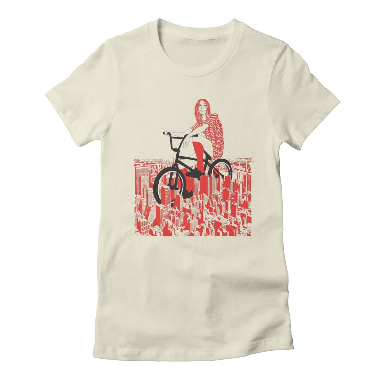 Summer in the city in Women's Fitted T-Shirt Natural by raid71's Shop