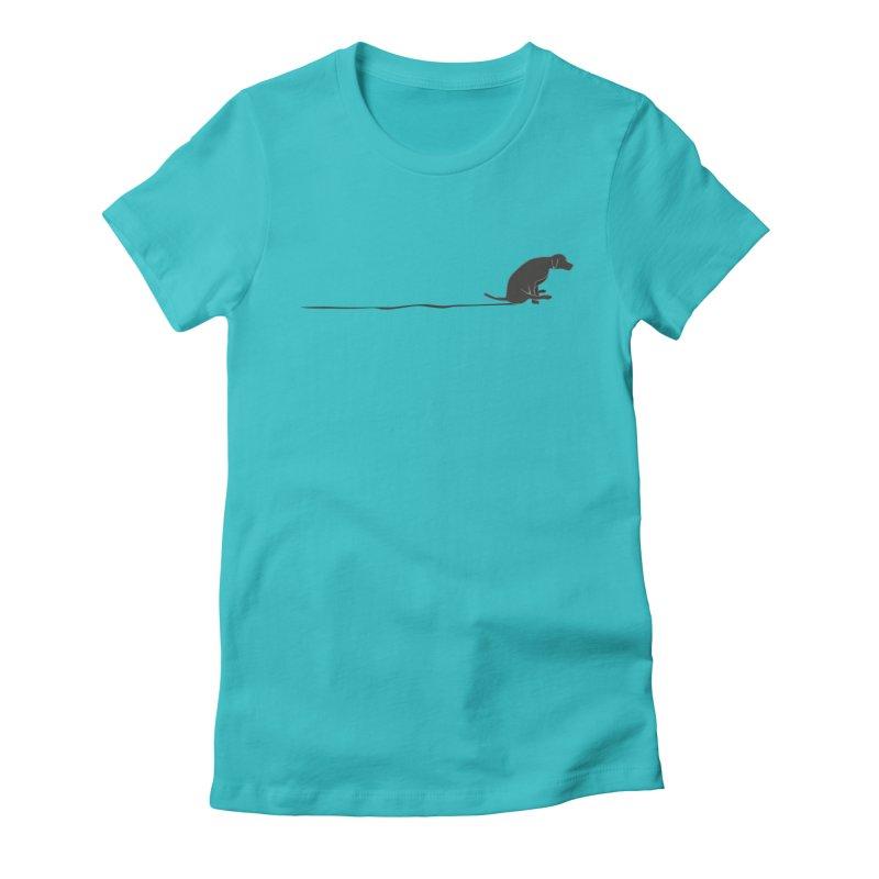 Mutt Shuffle Women's Fitted T-Shirt by eggshellgreen's Artist shop