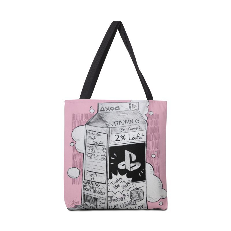 Drink up gamers (pink) Accessories Bag by Raining-Static Art