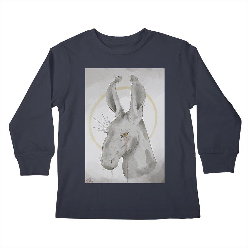 He Sees Kids Longsleeve T-Shirt by Raining-Static Art