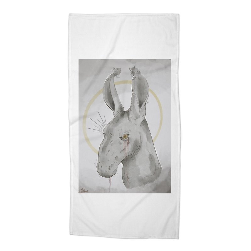 He Sees Accessories Beach Towel by Raining-Static Art