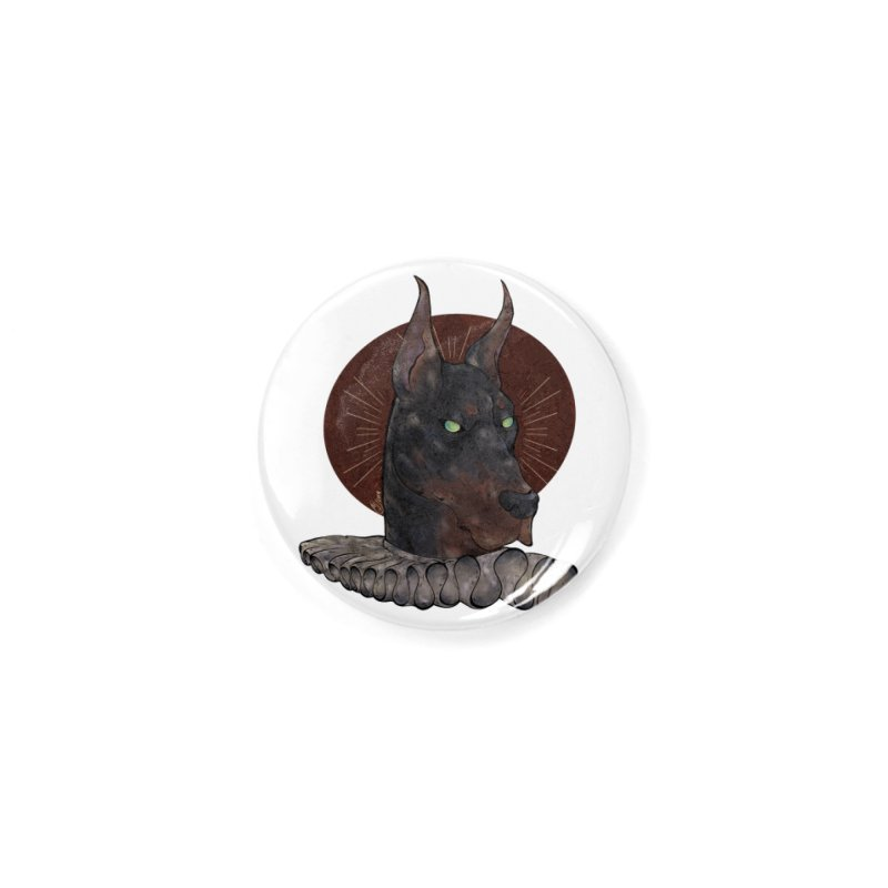Sir Dober Accessories Button by Raining-Static Art