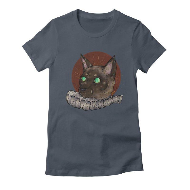 Miss Whiskers Women's T-Shirt by Raining-Static Art
