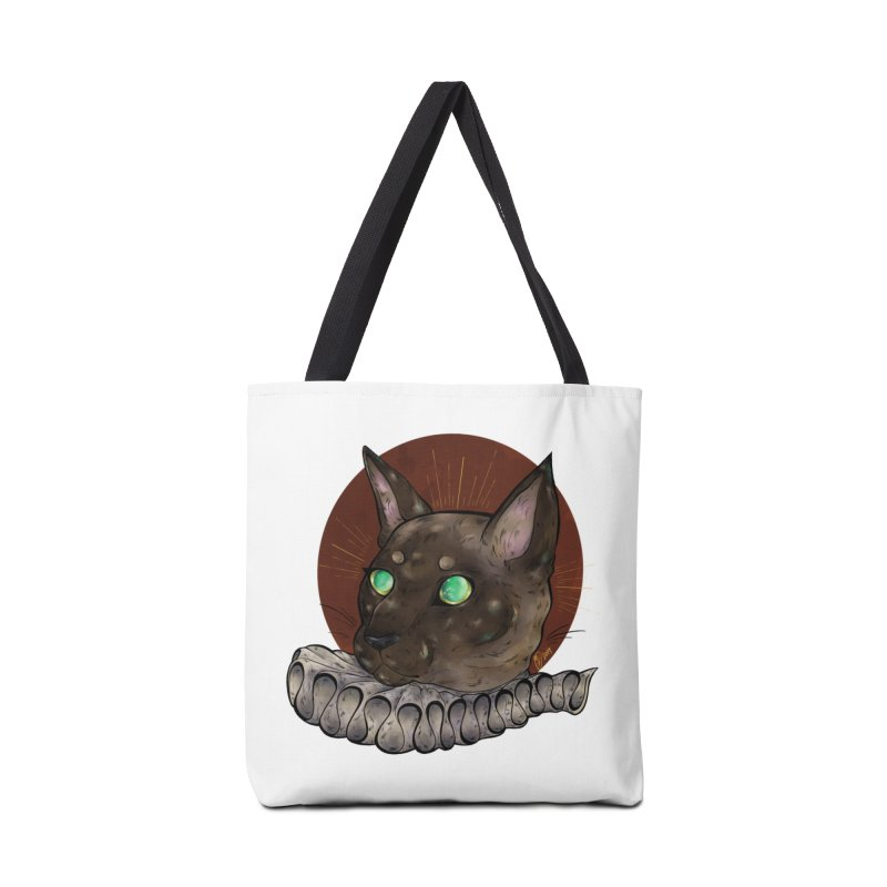 Miss Whiskers Accessories Bag by Raining-Static Art