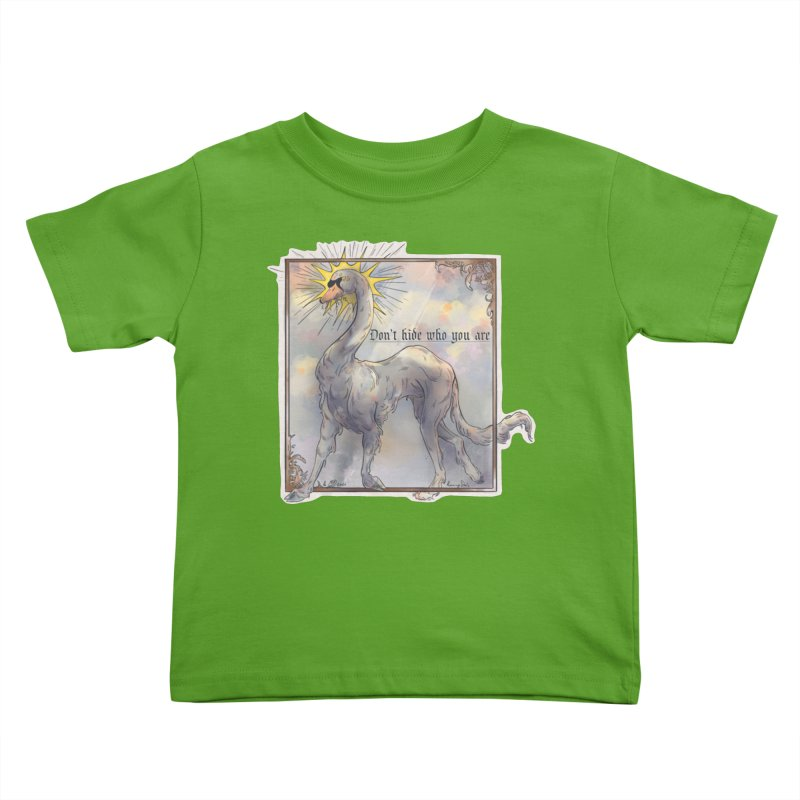 Don't hide Kids Toddler T-Shirt by Raining-Static Art