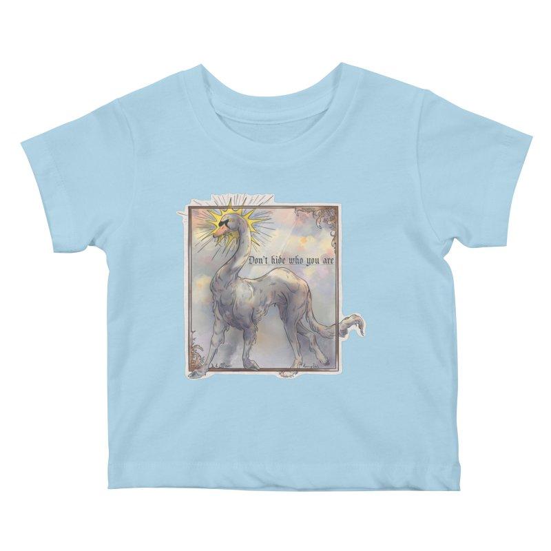 Don't hide Kids Baby T-Shirt by Raining-Static Art