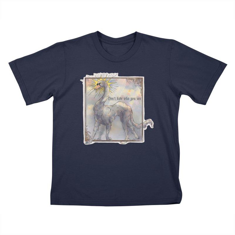 Don't hide Kids T-Shirt by Raining-Static Art