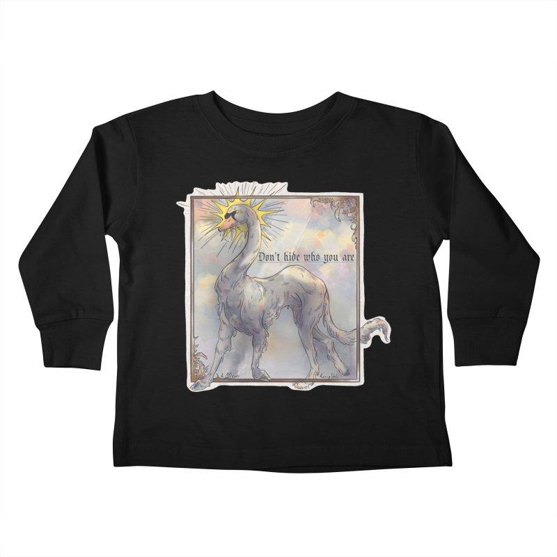 Don't hide Kids Toddler Longsleeve T-Shirt by Raining-Static Art