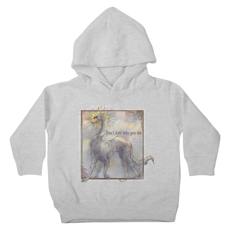 Don't hide Kids Toddler Pullover Hoody by Raining-Static Art