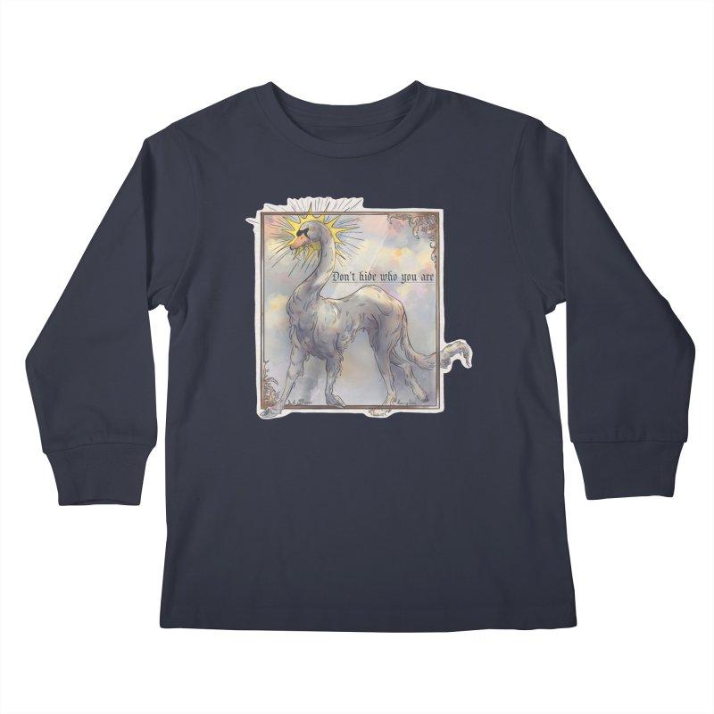 Don't hide Kids Longsleeve T-Shirt by Raining-Static Art