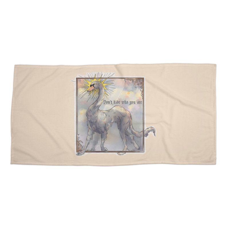 Don't hide Accessories Beach Towel by Raining-Static Art