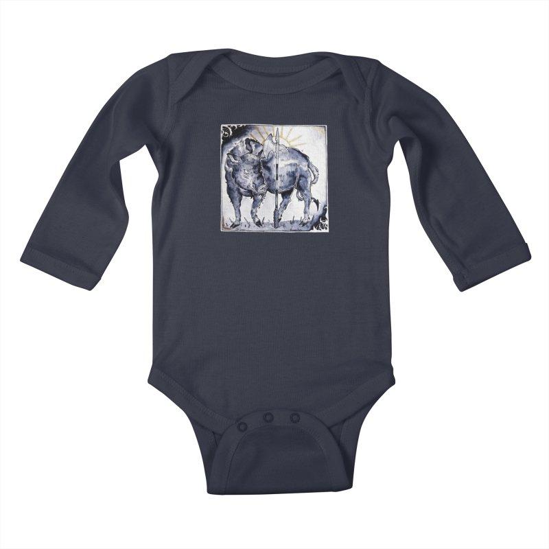 Hogs halberd Kids Baby Longsleeve Bodysuit by Raining-Static Art