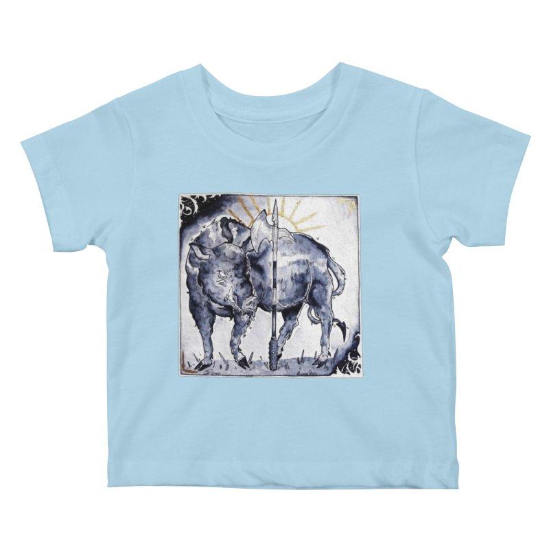 Hogs halberd Kids Baby T-Shirt by Raining-Static Art