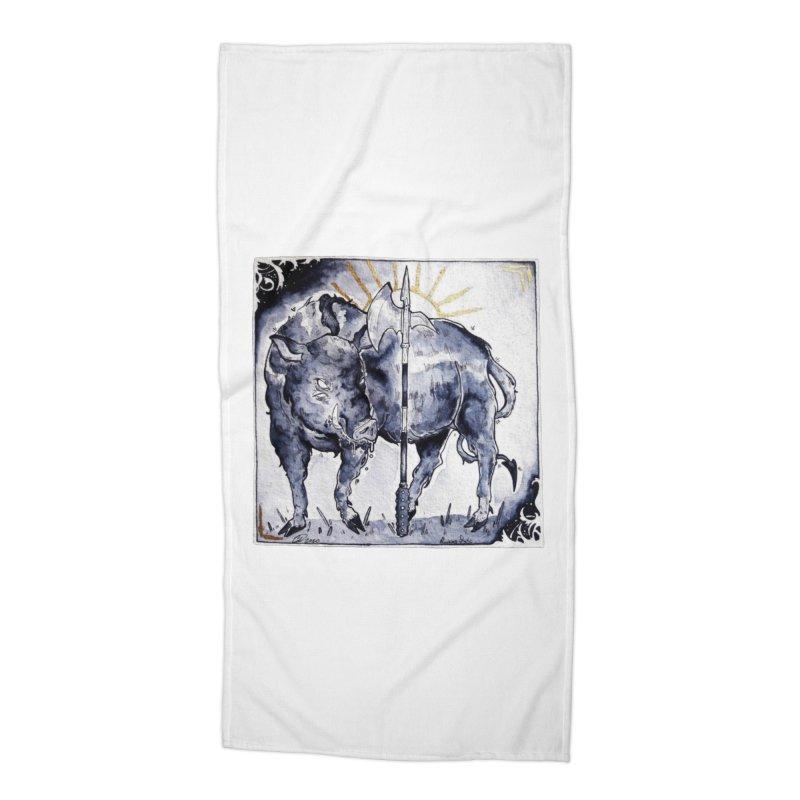 Hogs halberd Accessories Beach Towel by Raining-Static Art