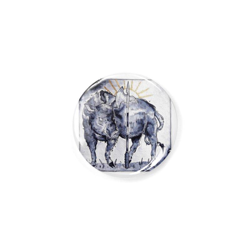 Hogs halberd Accessories Button by Raining-Static Art