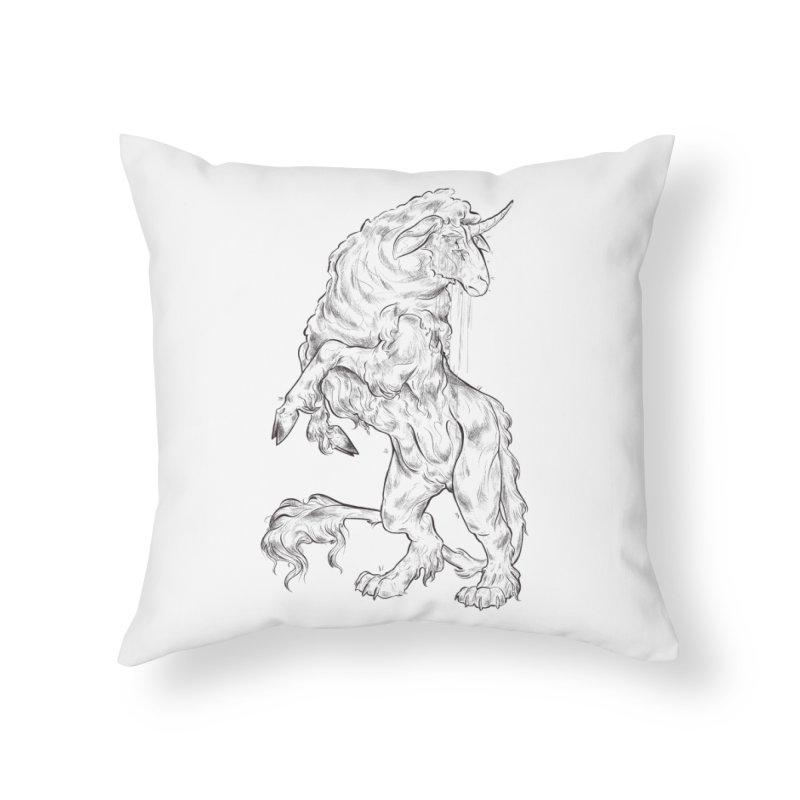 Sword keeper 1 Home Throw Pillow by Raining-Static Art