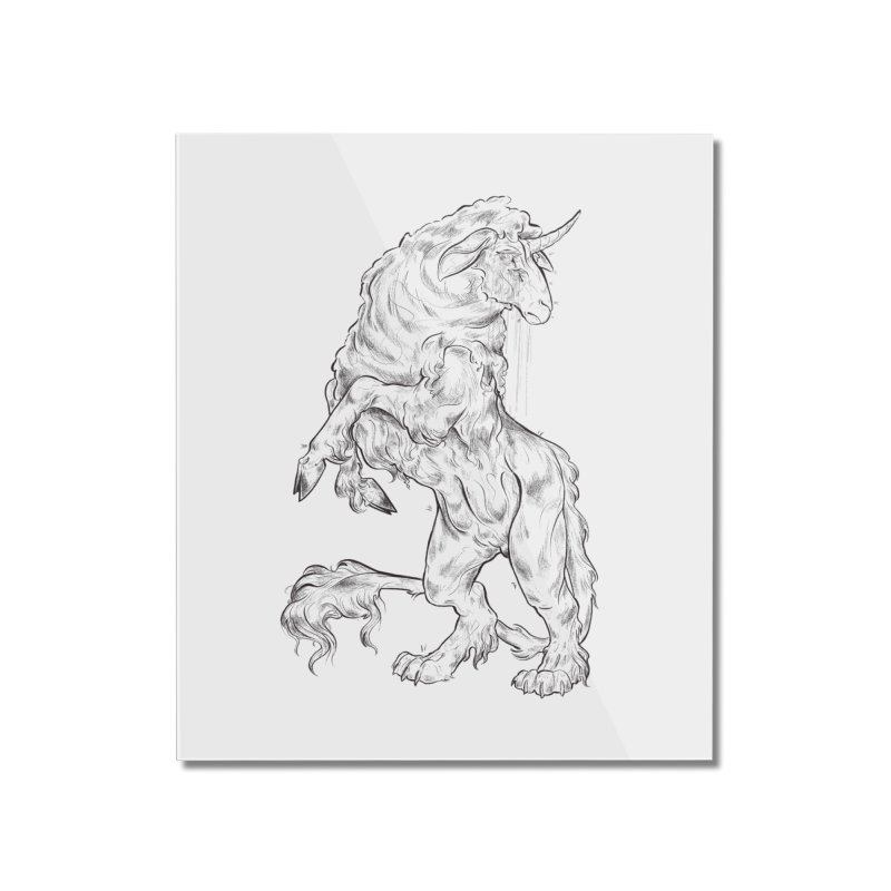 Sword keeper 1 Home Mounted Acrylic Print by Raining-Static Art