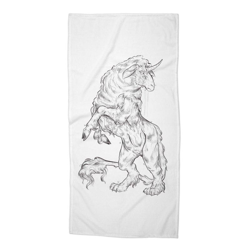 Sword keeper 1 Accessories Beach Towel by Raining-Static Art