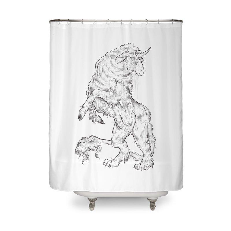 Sword keeper 1 Home Shower Curtain by Raining-Static Art