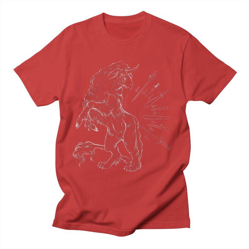 Sword keeper 2 (white) Men's T-Shirt by Raining-Static Art