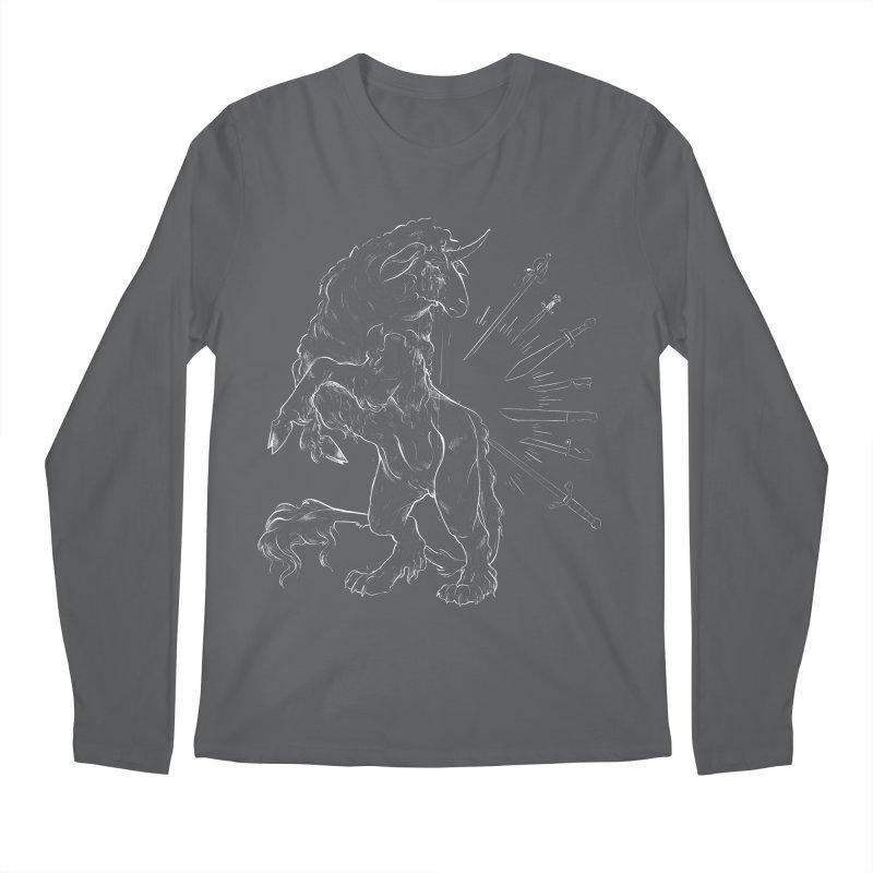 Sword keeper 2 (white) Men's Longsleeve T-Shirt by Raining-Static Art