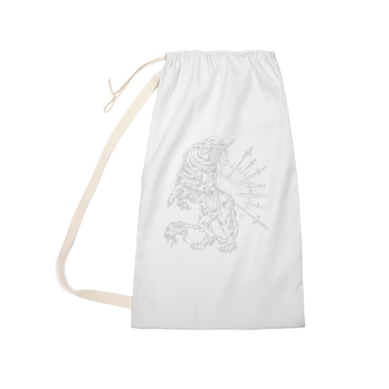 Sword keeper 2 (white) Accessories Bag by Raining-Static Art