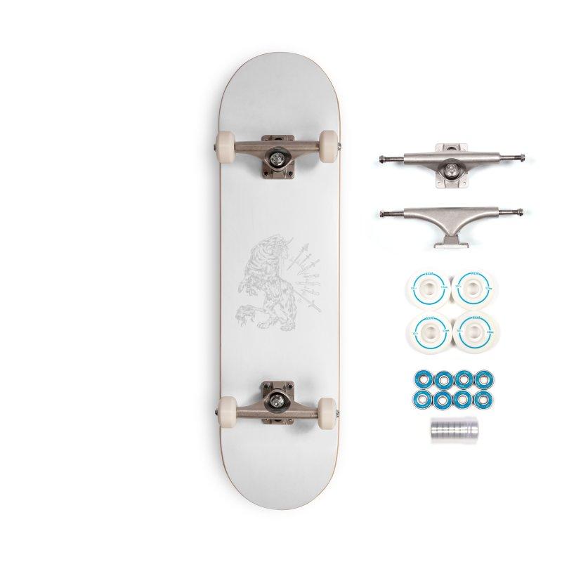 Sword keeper 2 (white) Accessories Skateboard by Raining-Static Art