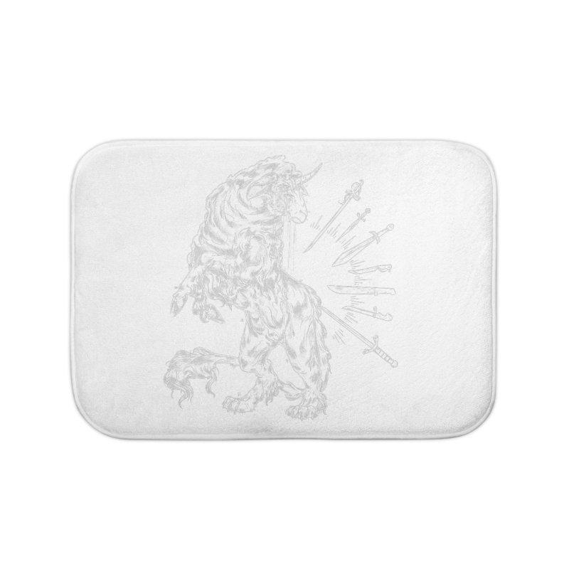 Sword keeper 2 (white) Home Bath Mat by Raining-Static Art