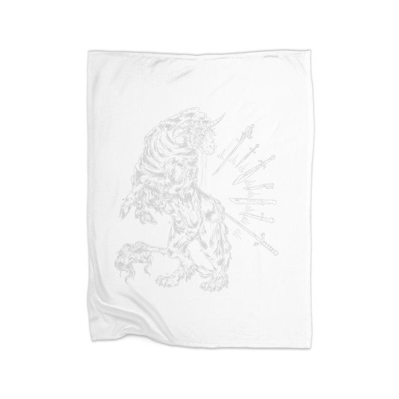 Sword keeper 2 (white) Home Blanket by Raining-Static Art