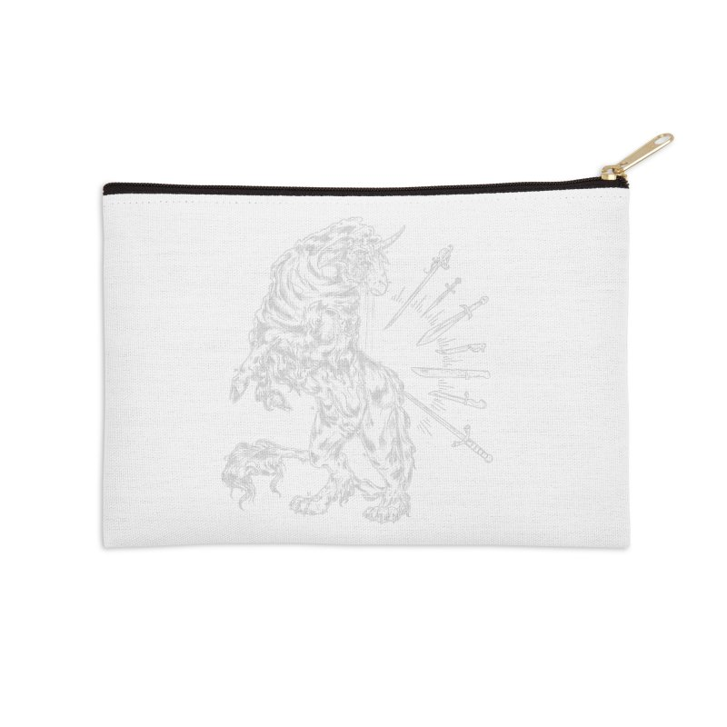 Sword keeper 2 (white) Accessories Zip Pouch by Raining-Static Art