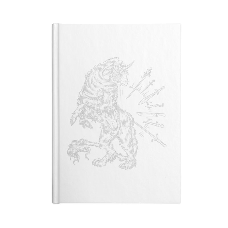 Sword keeper 2 (white) Accessories Notebook by Raining-Static Art
