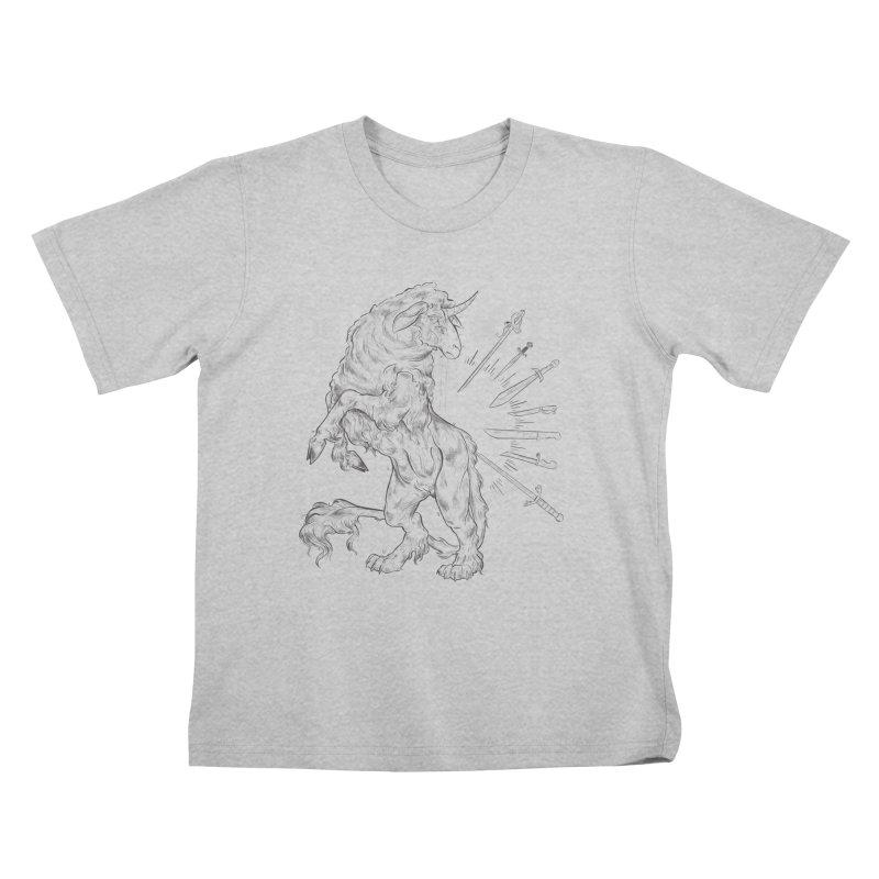 Sword keeper 3 Kids T-Shirt by Raining-Static Art