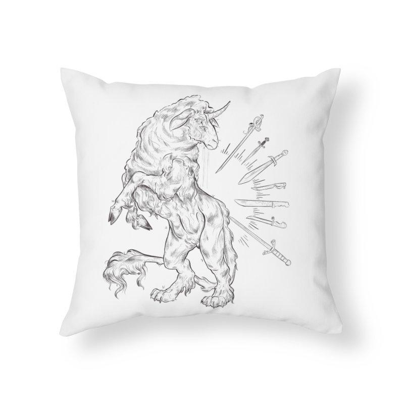 Sword keeper 3 Home Throw Pillow by Raining-Static Art