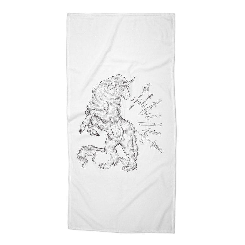 Sword keeper 3 Accessories Beach Towel by Raining-Static Art