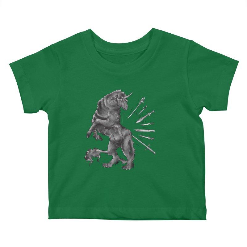 Sword keeper 4 Kids Baby T-Shirt by Raining-Static Art