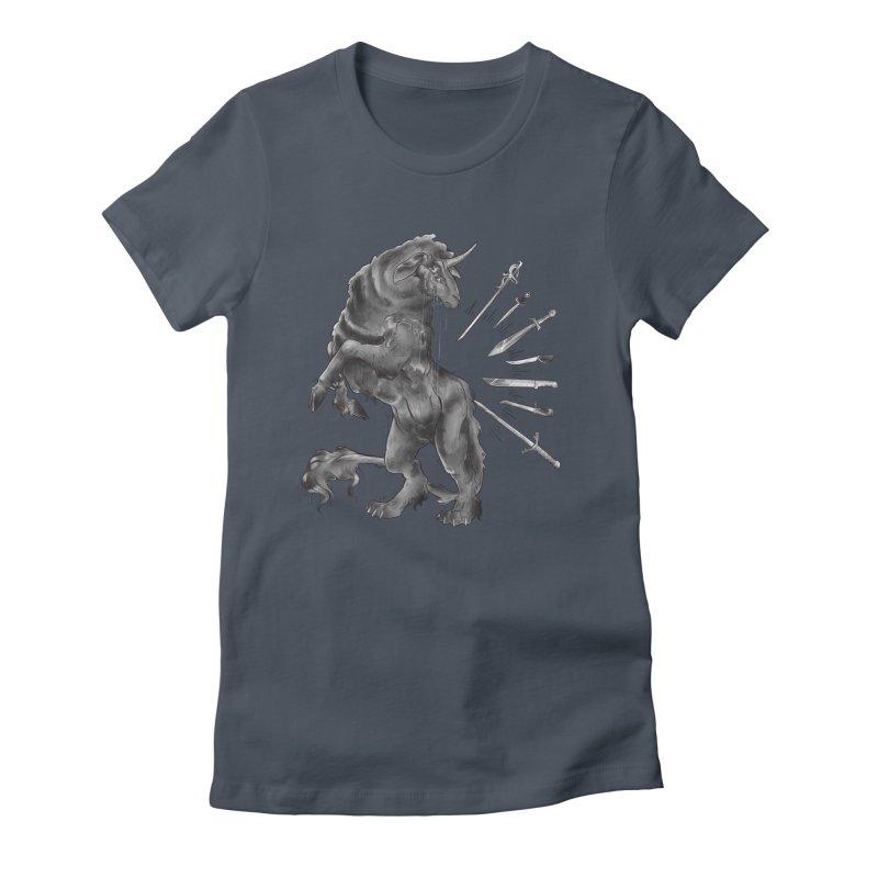 Sword keeper 4 Women's T-Shirt by Raining-Static Art