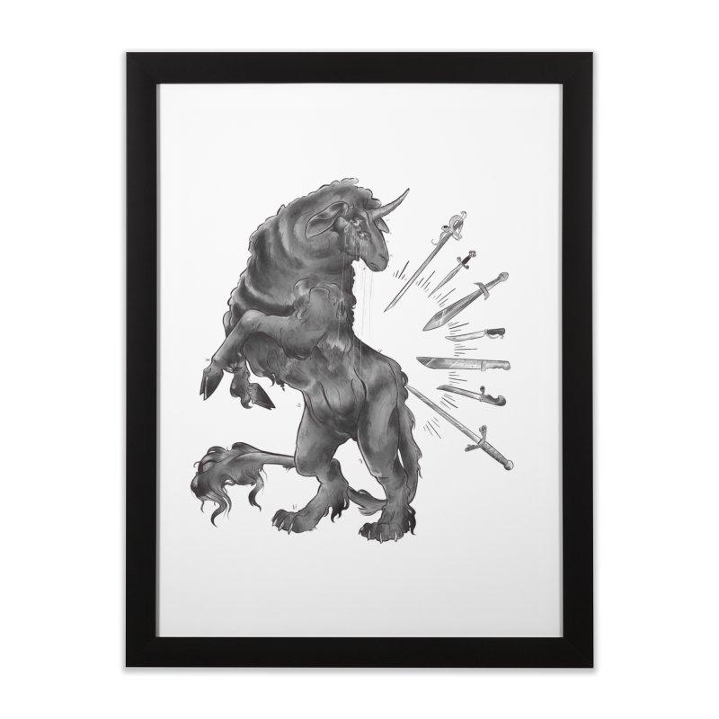 Sword keeper 4 Home Framed Fine Art Print by Raining-Static Art