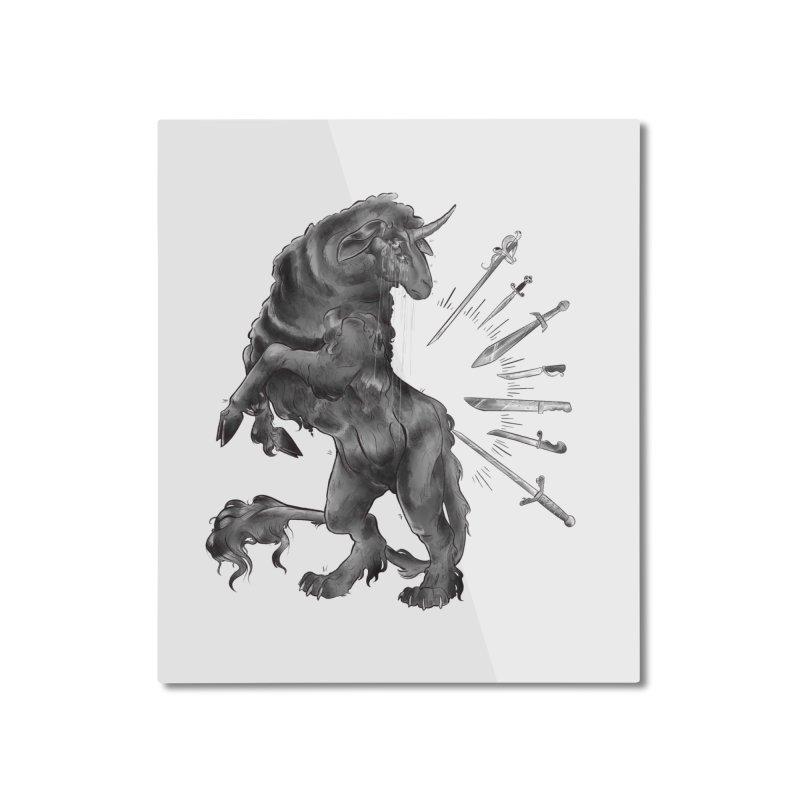 Sword keeper 4 Home Mounted Aluminum Print by Raining-Static Art