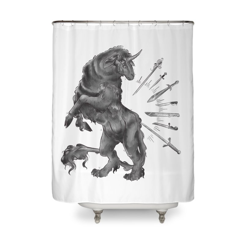 Sword keeper 4 Home Shower Curtain by Raining-Static Art