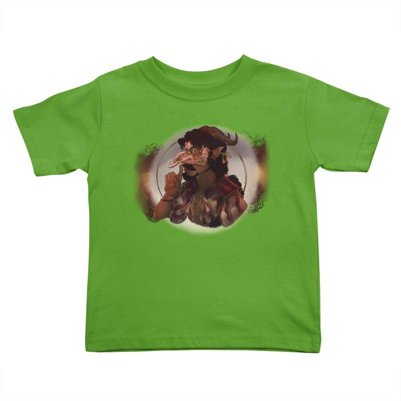 Mischievous Intentions Kids Toddler T-Shirt by Raining-Static Art