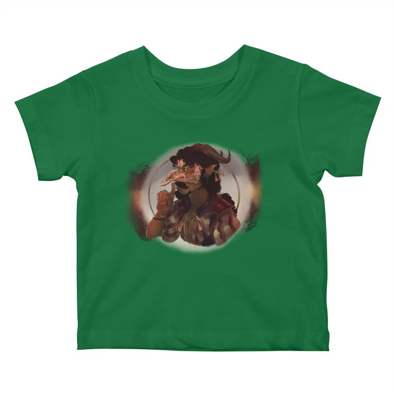 Mischievous Intentions Kids Baby T-Shirt by Raining-Static Art
