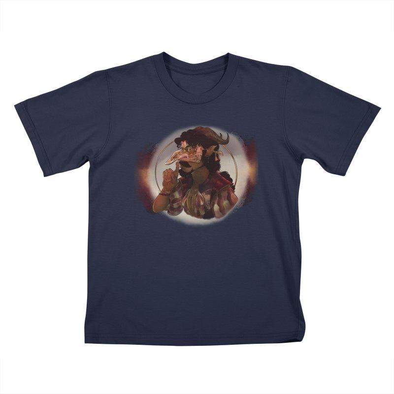 Mischievous Intentions Kids T-Shirt by Raining-Static Art