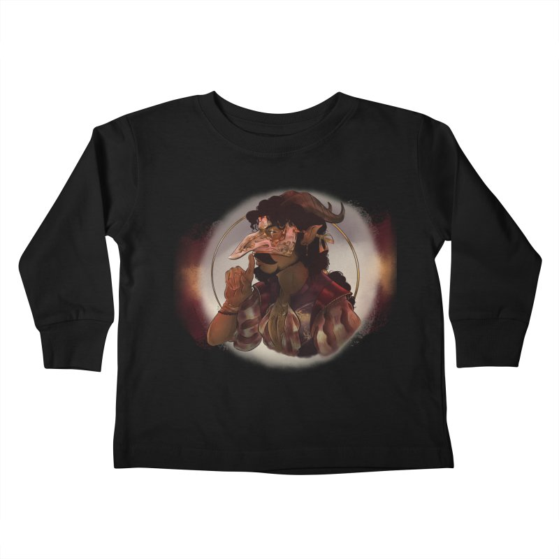 Mischievous Intentions Kids Toddler Longsleeve T-Shirt by Raining-Static Art