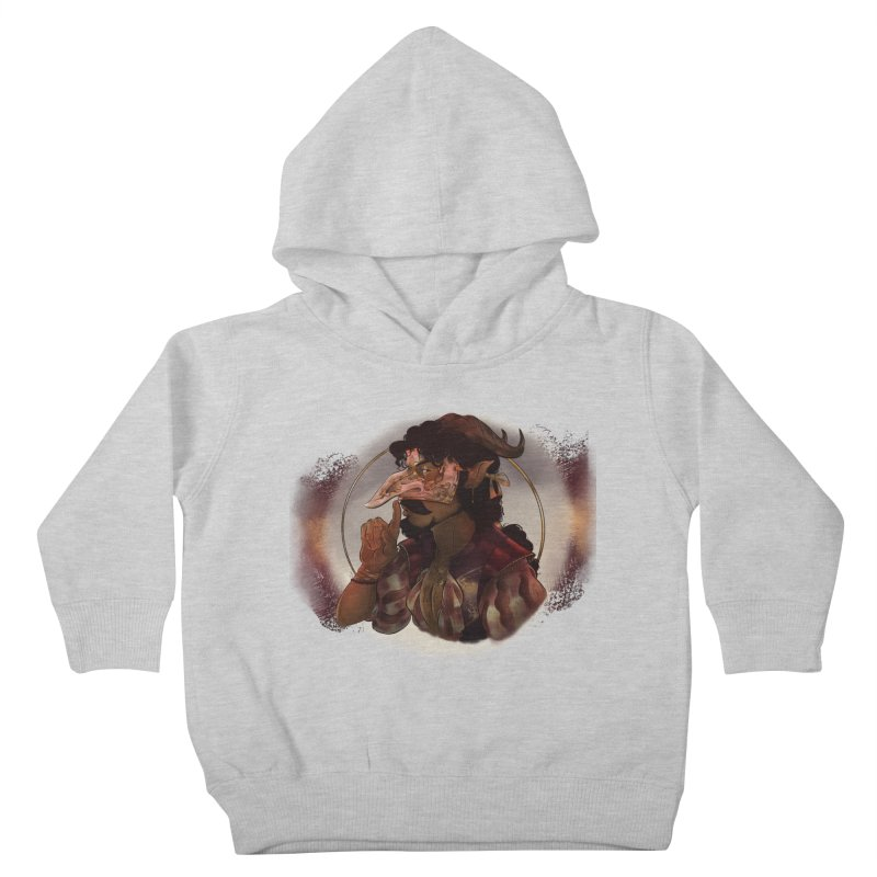 Mischievous Intentions Kids Toddler Pullover Hoody by Raining-Static Art